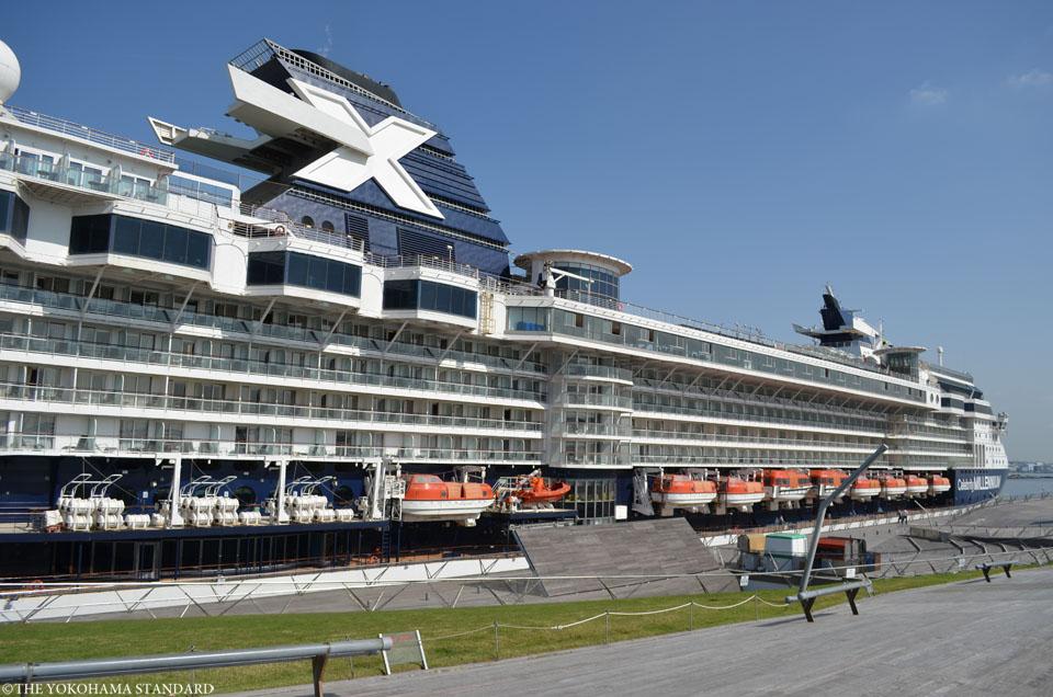 セレブリティミレニアム今年最後の入港2-THE YOKOHAMA STANDARD