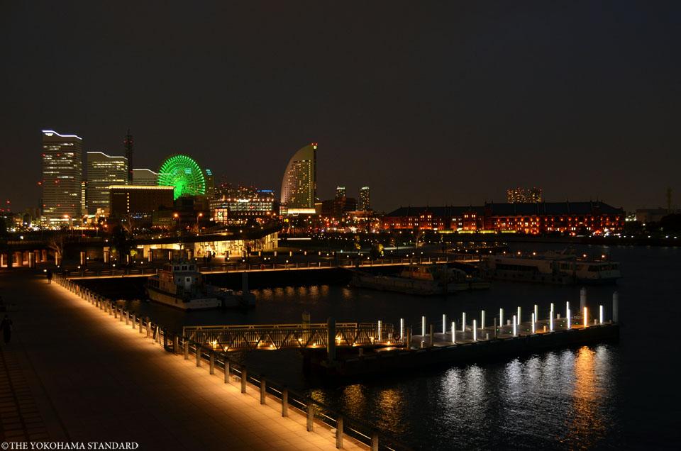 山下臨港線プロムナードからのみなとみらい夜景-THE YOKOHAMA STANDARD